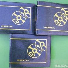 Música de colección: LOTE 3 ALBUMES O PORTA CDS - DVDS. Lote 211923890