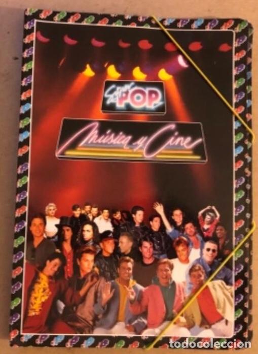 CARPETA DE LA REVISTA SUPER POP (1990). MÚSICA Y CINE. CON FASCÍCULO N°1 NEW KIDS ON THE BLOCK (Música - Varios)