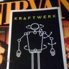 Música de colección: KRAFTWERK STICKER PEGATINA ADHESIVO CONCIERTO ARENA VALENCIA AUDITORIUM 1991. Lote 212903728