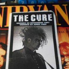 Música de colección: THE CURE STICKER PEGATINA ADHESIVO CONCIERTOS ARENA VALENCIA AUDITORIUM 1987 1989. Lote 212903951