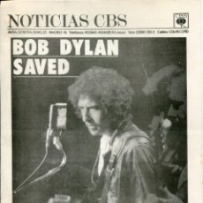 Musica di collezione: BOB DYLAN (NOTICIAS CBS ALBUM SAVED 4 PAGINAS). Lote 212958091