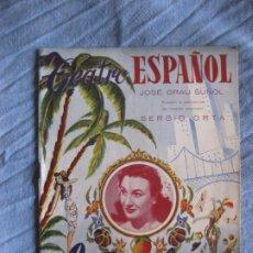 Música de colección: TEATRO ESPAÑOL PROGRAMA REVISTA SI EVA FUERA COQUETA 1953 GRAU SUÑOL SERGIO ORTA. Lote 213097158