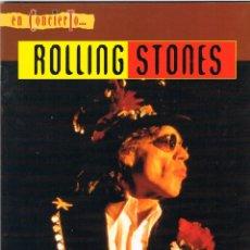 Música de colección: EN CONCIERTO... ROLLING STONE. GIJON 22 DE JULIO DE 1995, REVISTA, INCLUYE EL POSTER. Lote 213642745