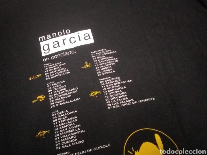 Música de colección: CAMISETA OFICIAL GIRA 2001-2002 MANOLO GARCÍA -NUNCA EL TIEMPO ES PERDIDO- - Foto 6 - 214335322