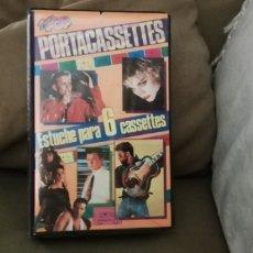 Música de colección: SUPER POP PORTA CASSETTES ESTUCHE PARA 6 CASETES DE MÚSICA AÑOS 80.. Lote 215297430