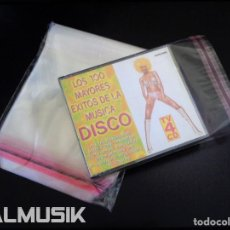 Musique de collection: 50 FUNDAS EXTERIORES TIPO CRISTAL CON AUTOCIERRE ADHESIVO PARA CD DOBLE | ENVÍO DOMICILIO. Lote 243842385