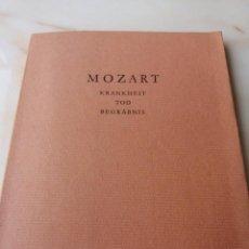 Música de colección: MOZART /KRANKHEIT TOD BEGRABNIS /SALZBURG 1966. Lote 215649725