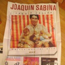 Música de coleção: JOAQUIN SABINA: POSTER GIGANTE PROMOCIONAL !!!!. Lote 216375913