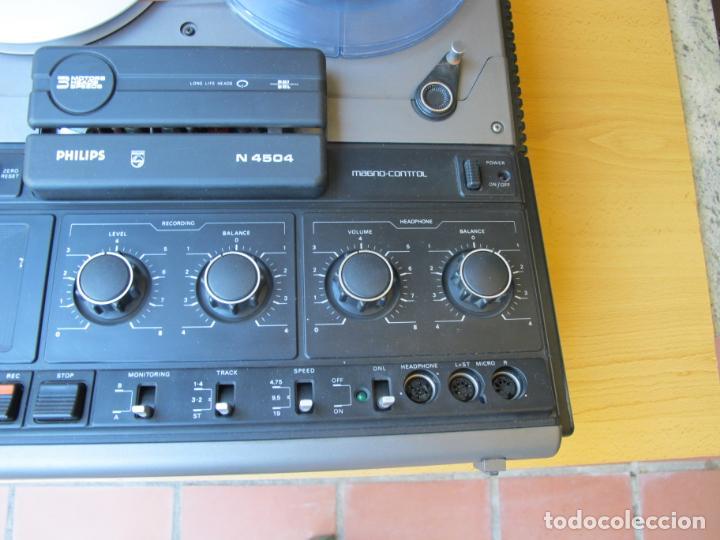 Música de colección: MAGNETÓFONO BOBINA ABIERTA DE ALTA FIDELIDAD PHILIPS N4504 STÉREO + ACCESORIOS. ( DEFECTUOSO - Foto 3 - 236996830
