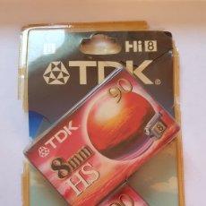 Música de colección: 2 CINTAS HI8 TDK -CINTA TDK 8MM HS HI8 PARA CAMARA DE VIDEO DE 90 - CASSETTE DE VIDEOCAMARA. Lote 216813635