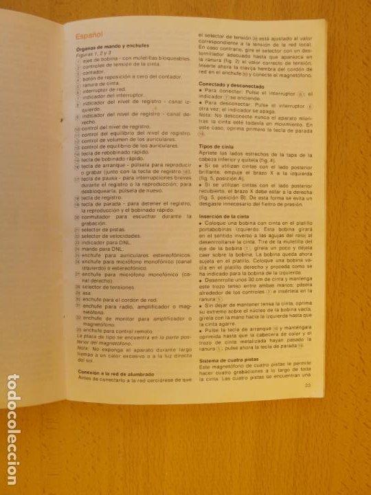 Música de colección: MAGNETÓFONO BOBINA ABIERTA DE ALTA FIDELIDAD PHILIPS N4504 STÉREO + ACCESORIOS. ( DEFECTUOSO - Foto 10 - 236996830