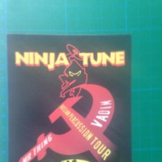 Música de colección: FLYER NINJA TUNE - DJ VADIM - MR THING - JAZZ FUDGE- RUSSIAN PERCUSSION TOUR - BROADWAY NOTTINGHAM. Lote 217675893