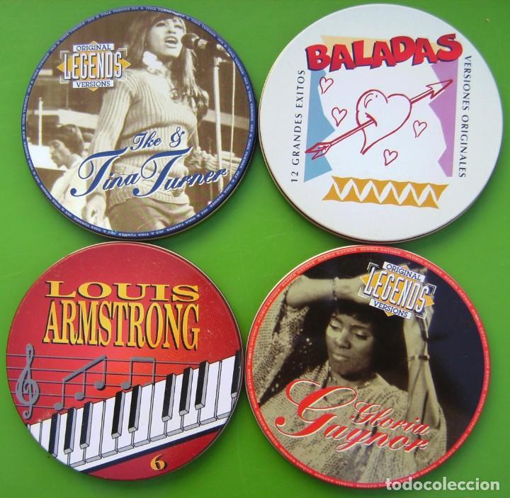LOTE DE 4 LATAS DE CDS VACÍAS (Música - Varios)