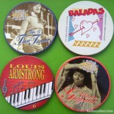 Música de colección: LOTE DE 4 LATAS DE CDS VACÍAS. Lote 217755605