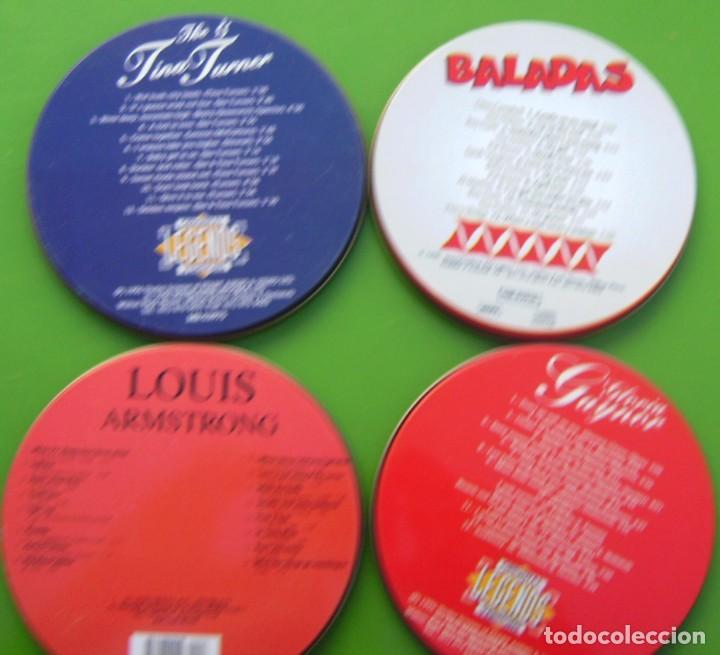 Música de colección: Lote de 4 latas de CDs vacías - Foto 2 - 217755605