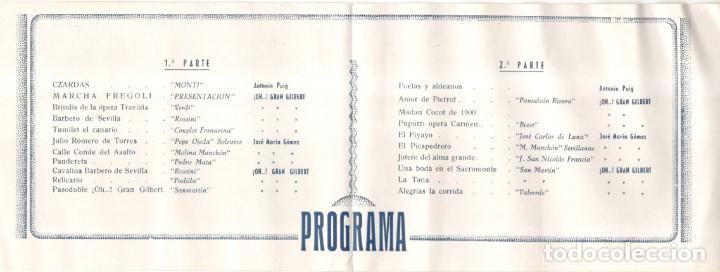 Música de colección: SALA MOZART - OH..! GRAN GILBERT - 1943 - PROGRAMA -10,2 X 30,2 CM. - Foto 2 - 218257388