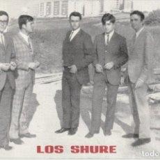 Música de colección: FOTO PROMOCIONAL GRUPO MUSICAL LOS SHURE. Lote 218370233