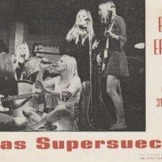 Música de colección: FOTO PROMOCIONAL GRUPO MUSICAL LAS SUPERSUECAS ( LEER ENVÍO, ETC. ). Lote 218370847