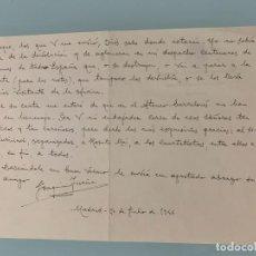 Música de colección: JOAQUIN TURINA - CARTA MANUSCRITA A DOBLE CARA. FIRMADA. FECHADA Y CON MEMBRETE DEL MINISTERIO. Lote 218433063