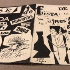 Música de colección: DÍPTICO PROMOCIONAL DEL PASE DE MODA EN LA 1ª MIESYRA POP-ROCK Y OTROS ROLLOS DE ZARAGOZA EN 1984.. Lote 155295194