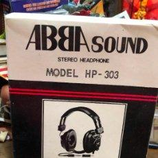Música de colección: ABBA SOUND STEREO HEADPHONE MODEL HP - 303. Lote 220820551