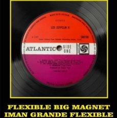Música de colección: LED ZEPPELIN II LABEL FLEXIBLE BIG MAGNET IMÁN GRANDE. Lote 220933546