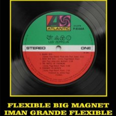 Música de colección: LED ZEPPELIN IV LABEL FLEXIBLE BIG MAGNET IMÁN GRANDE. Lote 220933877