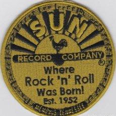 Música de colección: PARCHE BORDADO SUN RECORDS - ROCKABILLY ROCKERS. Lote 244423950