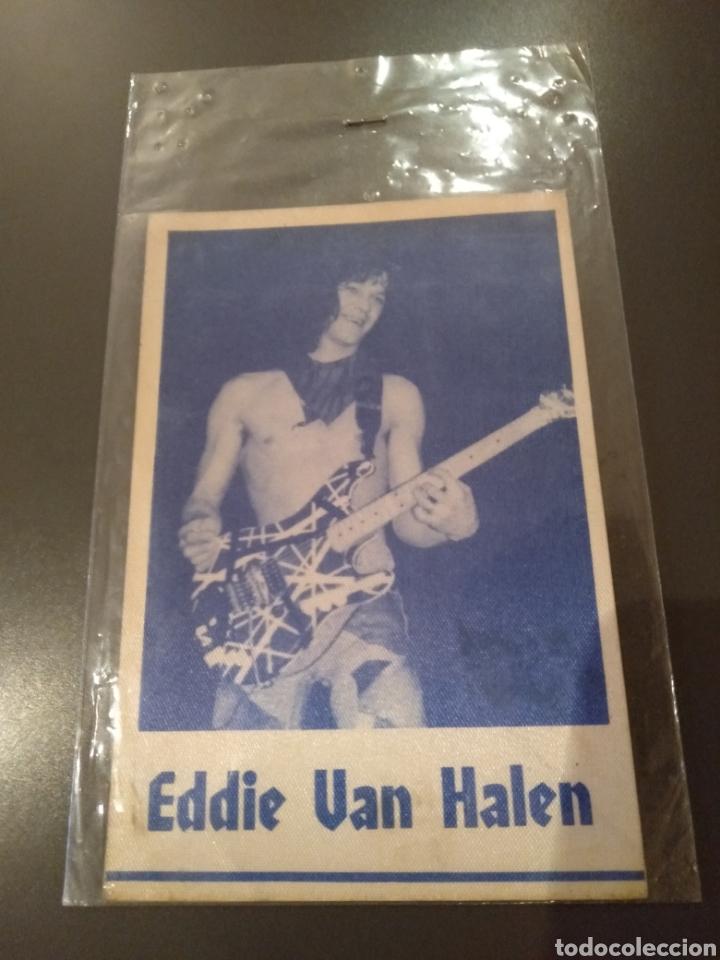 EDDIE VAN HALEN, PARCHE DE TELA ADHESIVA AÑOS 70 OPORTUNIDAD PARA COLECCIONISTAS Y FANS DE LA BANDA (Música - Varios)
