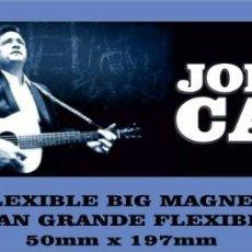 Música de colección: JOHNNY CASH MAN IN BLACK FLEXIBLE BIG MAGNET IMÁN GRANDE. Lote 221439280