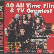 Música de colección: CD MUSICA: 40 ALL TIME FILM AND TV GREATEST - GRANDES EXITOS DEL CINE (DOBLE CD). Lote 221626952