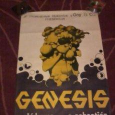 Musique de collection: GENESIS SAN SEBASTIÁN 1975 63X95 CM + LA ENTRADA DEL CONCIERTO. Lote 221697592