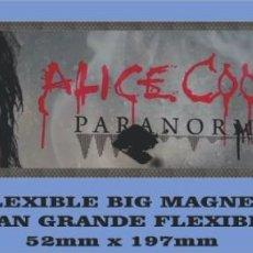 Música de colección: ALICE COOPER PARANORMAL FLEXIBLE BIG MAGNET IMÁN GRANDE. Lote 221701675