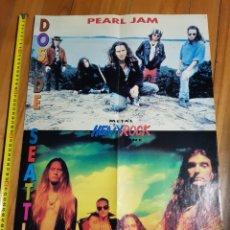 Música de colección: HEAVY ROCK. REFERÉNDUM 92. PÓSTER PEARL JAM Y ALICE IN CHAINS. Lote 221962396