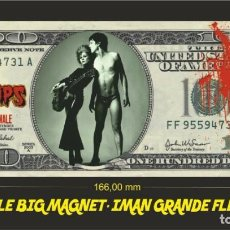Música de colección: THE CRAMPS SMELL OF FEMALE IMAN BILLETE 100 DOLLARS BILL MAGNET. Lote 222106495