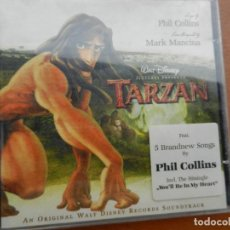 Música de colección: PHIL COLLINS - TARZAN CD - CARATULA Y CANCIONES. Lote 222365070