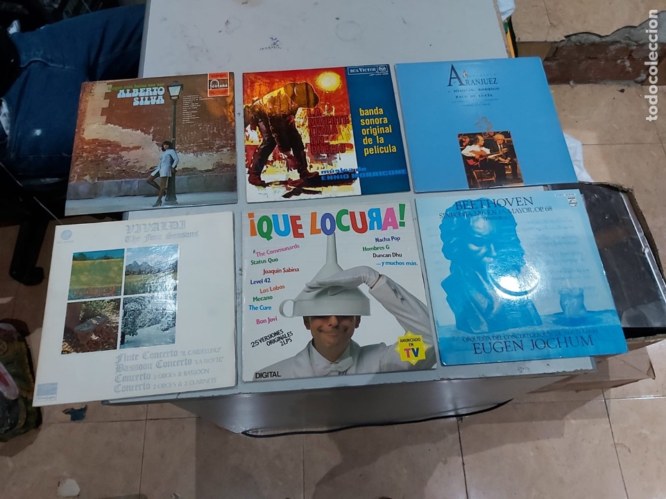 Música de colección: Gran lote de 100 discos de música tamaño grande variados. Ver las fotos - Foto 9 - 222640076