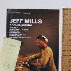 Musica di collezione: FLYER JEFF MILLS + ANGEL MOLINA RAZZMATAZZ 2002. Lote 223127736