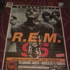 Musique de collection: REM CARTEL DEL CONCIERTO SAN SEBASTIÁN 1995 100X140 CM. Lote 223131160