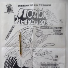 Música de coleção: SEQZIÓN DEMENCIADOS DEATH METAL GRIND HUESO DURO BANYOLES CARTEL CONCIERTO. Lote 224127172
