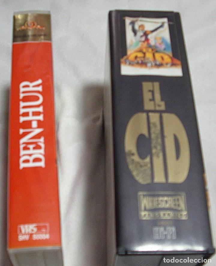 EL CID Y BEN HUR LOTE DE DOS PELICULAS VHS- IMPORTANTE LEER Y VER FOTOS (Música - Varios)