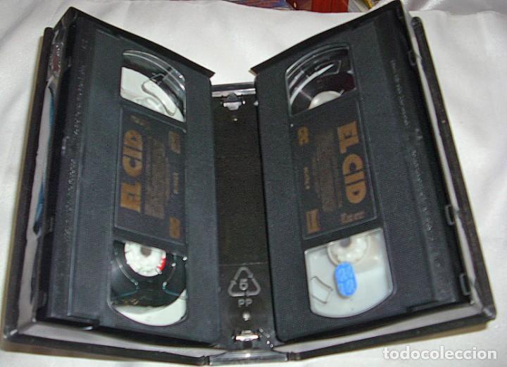 Música de colección: EL CID Y BEN HUR LOTE DE DOS PELICULAS VHS- IMPORTANTE LEER Y VER FOTOS - Foto 2 - 224616397