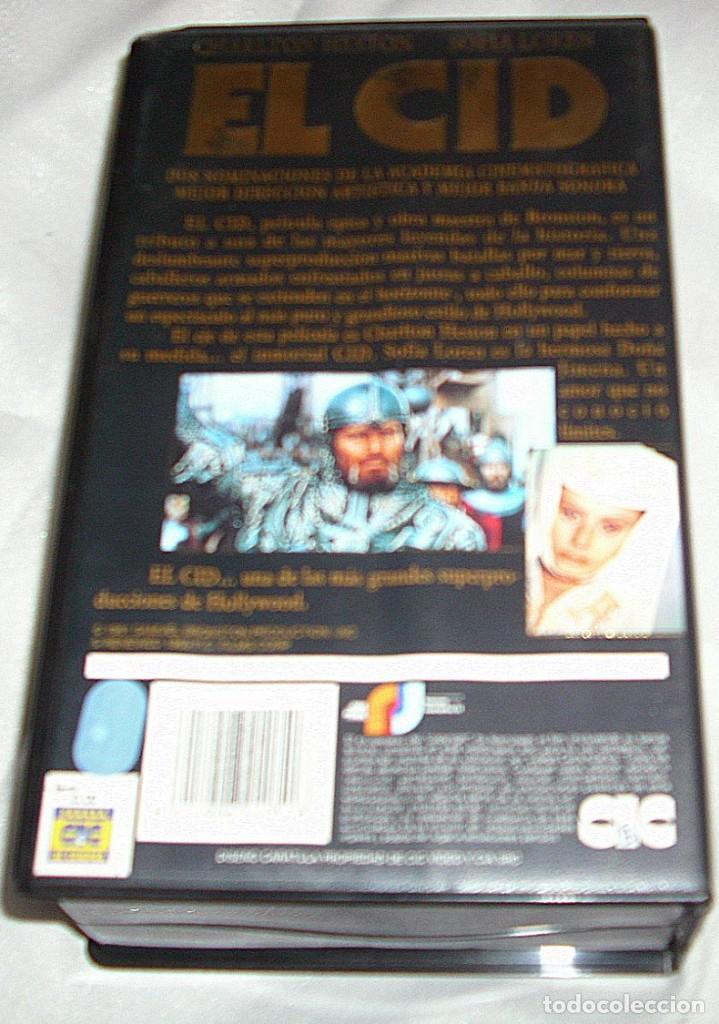Música de colección: EL CID Y BEN HUR LOTE DE DOS PELICULAS VHS- IMPORTANTE LEER Y VER FOTOS - Foto 3 - 224616397