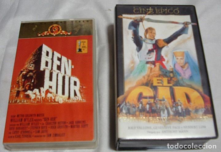 Música de colección: EL CID Y BEN HUR LOTE DE DOS PELICULAS VHS- IMPORTANTE LEER Y VER FOTOS - Foto 4 - 224616397
