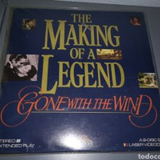 Música de colección: TRST4G8. LÁSER VIDEODISC. THE MAKING OF A LEGEND. GONE WITH THE WIND. Lote 224629252