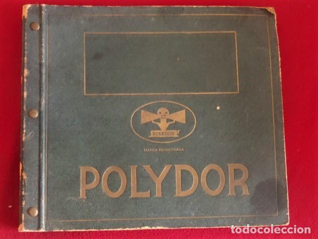 ALBUM / CARPETA / ARCHIVADOR POLYDOR VACIO PARA DISCOS DE PIZARRA DE 25 CM. (Música - Varios)