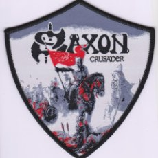 Musique de collection: SAXON - CRUSADER - PARCHE (10,50 CM DE ALTO) HEAVY METAL. Lote 228290595