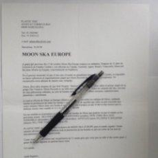 Música de colección: MOON SKA EUROPE PLASTIC DISC HOJA PROMOCIONAL. Lote 229612310