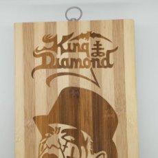 Música de colección: KING DIAMOND / TABLA DE MADERA DE COCINA PARA CORTAR PAN O DECORAR. Lote 231326625