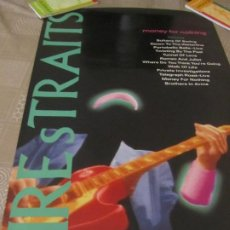 Musica di collezione: DIRE STRAITS MARK KNOPFLER POSTER MONEY FOR NOTHING PROMOCIONAL. Lote 231670935